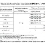 Индексы обозначения пускателей ПМ12 063 IP40