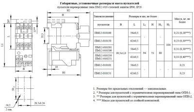 Габариты ПМ12-010