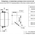 Габариты ПМ12-010 IP54
