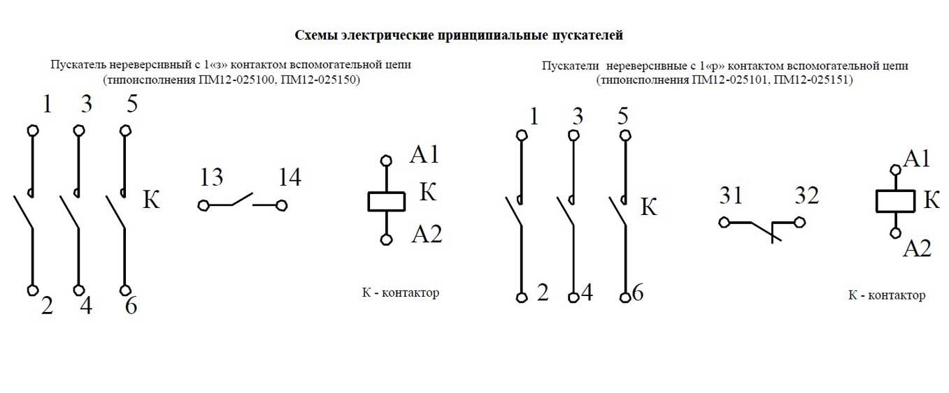 Схема ПМ12 025100, 025150, 025101, 025151