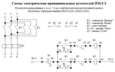Схема ПМЛ 3620, 3650