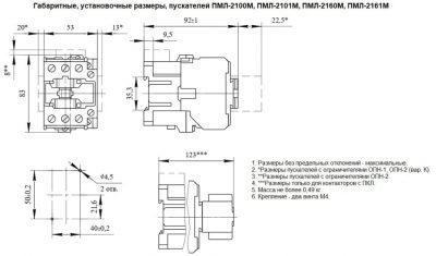 Габариты ПМЛ-2